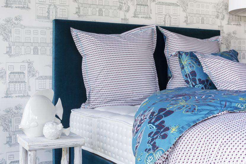 Idée déco ambiance Malte Jade - Linge de lit Adele