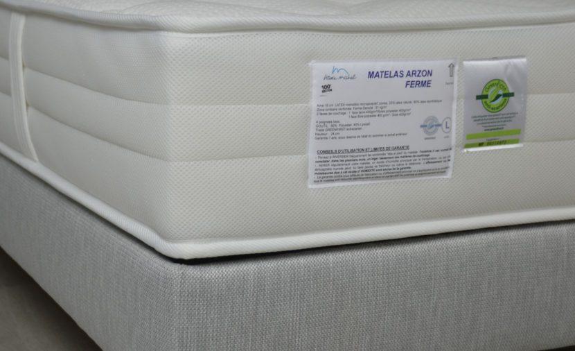 Matelas Arzon ferme étiquette Greenfirst