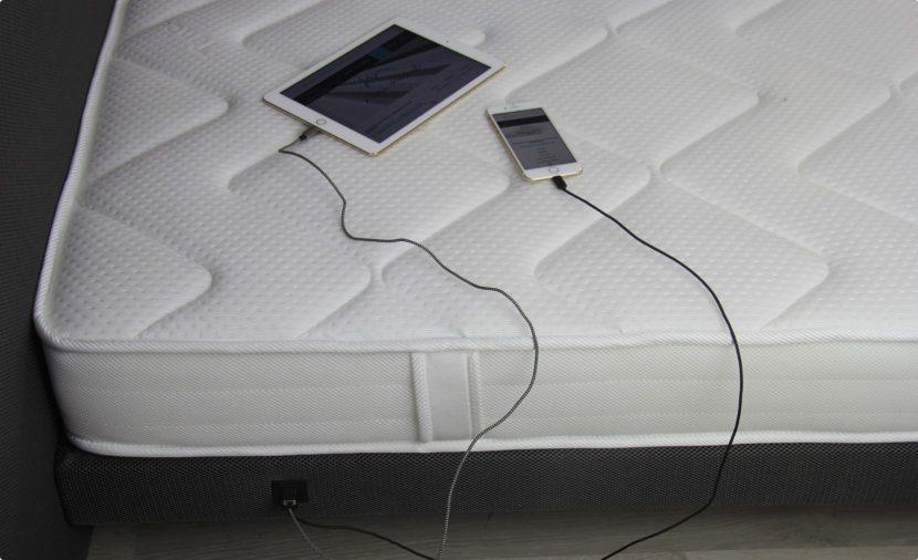 Photo tête de lit connectée avec 2 ports USB