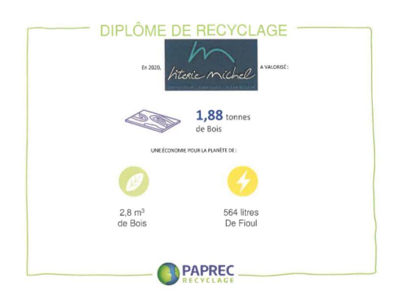 Visuel diplôme de recyclage Paprec